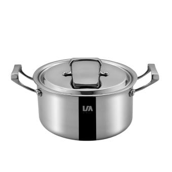 Stainless steel 20 cm soup pot of two ears - intl