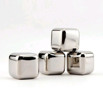 Universal Reusable Stainless Steel Ice Cube 4Pcs / Es Batu Stainless