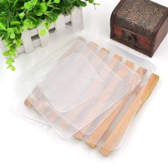 4 Pcs Silicone Wraps Seal Cover Stretch Cling Film Food Freshkeep Kitchen Kit - intl