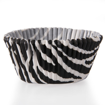 HL Zebra Mini Paper Baking Cups Cupcake Cake Cup Muffin Case Weddingparty 50Pcs - intl