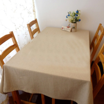 HKS 1X 140*180 Plain Linen Tablecloth Yield Retro Style - intl