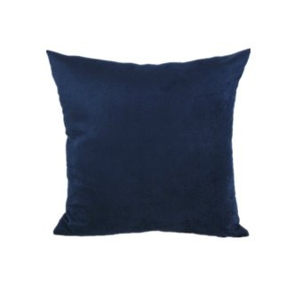 Suede Square Home Decorative Throw Pillow Case Cushion Cover,Dark Blue - intl