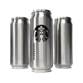 Starbucks Logo Design Tumbler / Drinking / Beer Cans Design/Stainless Steel Tumbler (Silver) - intl