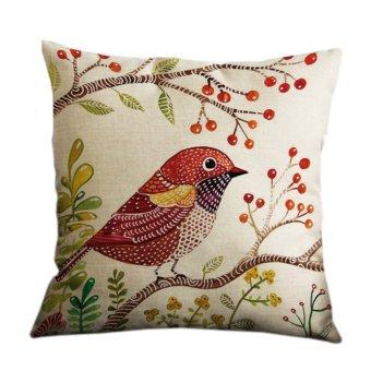 Yazilind cute bird printing pattern decorative pillowcase room sofa home 45*45CM/17.55*17.55 inch