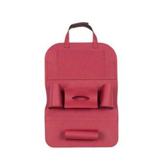 ooplm Seat Back Organizer+ IPad Tablet Holder, PU Leather Car Backseat Hanging Kick Mat Protector Travel Storage Bag, To Organize Phone/ Tissue Box/ Umbrella/ Baby Toys/ Bottles (Wine) - intl