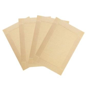 HL 4 PCS Pvc Waterproof Table Cloth (Golden) - intl