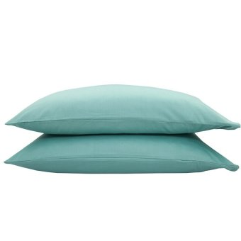 2Pack 48 x 74cm Solid Color Cotton Pillow Protectors (Dark Green)