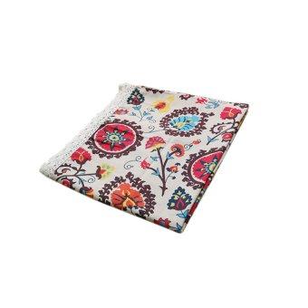BolehDeals 120x120cm Lace Trim Tablecloth Table Cover Party Cafe Kitchen Dining Decor - intl