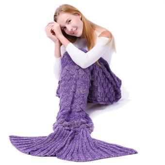 Harga Zakar selimut ekor putri duyung untuk anak-anak dan orang dewasa buatan tangan rajutan
