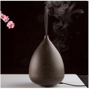 Harga Ultrasonic Wooden Electric 300 ml Air Aroma Essential Oil Diffuser Humidifier Two Mist Mode USB