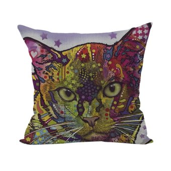 Colorful Animal Pillow Case Throw Pillow Cases Cushion Cover Home D??cor Cat 5
