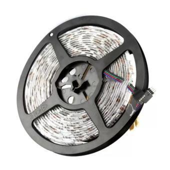 Harga 5M Lampu Led Strip Flexible Light Disco Waterproof 5050 RGB 44 Key Indoor Outdoor Remote