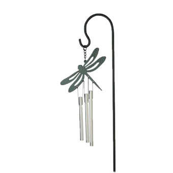 BolehDeals Dragonfly Metal Lucky Bell Chapel Bells Wind Chimes Flower Pot Bonsai Decor