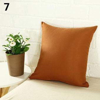 Sanwood Simple Fashion Square Throw Home Decorative Pillow Case Sofa Waist Cushion Cover (Light Coffee) - intl