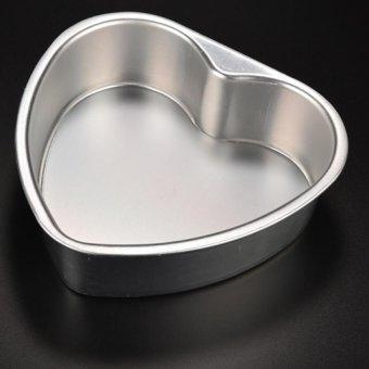 Amango Cake Baking Mold Heart Shaped Aluminium 1Pcs 5inch