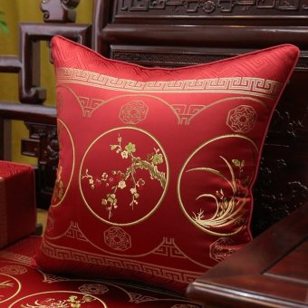 Chinese Luxury Villas Living room pillow cushion kit rosewood convertible sofa seat cushion 60*60cm Ring Kit - intl