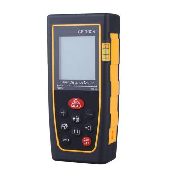 High Accuracy Handheld Digital IR Distance Meter Bubble Level Measure Rangefinder 100M - intl