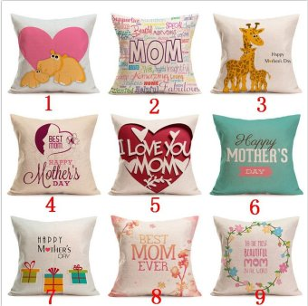 Hot Happy Mother's Day Sofa Bed Home Decoration Festival Pillow Case Cushion Cover-Style 18 - intl