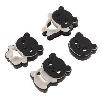 UJS Multi-expression Panda Biscuits Mould 4 Piece Set (Black/Silver)