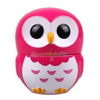 BolehDeals Cute Owl Shape Cooking Timer Kitchen Mechanical Reminder Decor Dark Pink