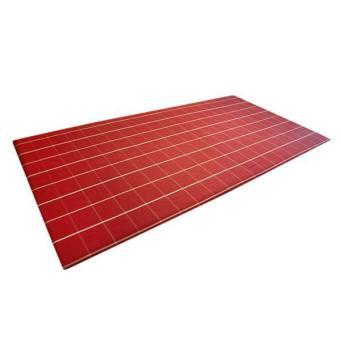BolehDeals taplak meja Retro gaya Inggris merah kotak-kotak taplak meja makan dekorasi 90 cm x 140 cm - Internasional