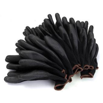 Harga 12 pasang PU cocok untuk lapisan nilon sarung tangan kerja pembangun pegangan telapak tangan melindungi