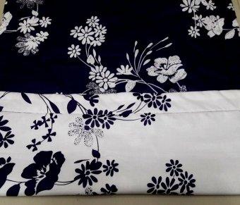 Alona Ellenov Sarung Bantal Cinta Motif keiko putih dan ungu - Putih
