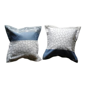 Alona Ellenov Sarung Bantal Sofa Katun Motif diamond - Multicolour