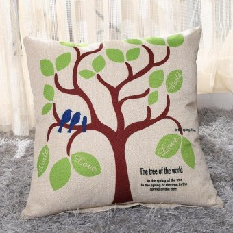 New Fashion Cartoon Printing Pattern Linen Cushion Cover Throw Pillow Case Home Decor (45cm*45cm)11 - intl