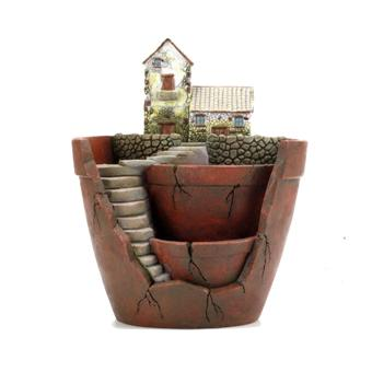 Mini Funny Fairy Garden Style Plants Flower Succulent Pot Planter Container Micro Landscape Hanging Garden Design with Sweet House for Decoration and Gift - intl