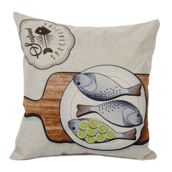 HKS Cartoon Fish Pillow Case (Grey)