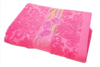 Harga Dixon - Handuk Mandi Anak 50x100 100% Katun DX27245X Bordir Timbul Kristal - Pink