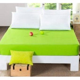 jaxine sprei waterproof anti air tinggi 35+set sarung bg-hijau lime