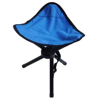Universal Kursi Lipat Memancing Folding Three Legged Beach Stool Chair