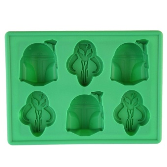 Beau 1pc creative Ice Tray Silicone Mold Cube Chocolate Fondant Moulds Green - intl