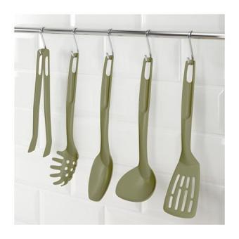 Ikea Speciell Peralatan Memasak Spatula Isi 5pcs - Hijau Tua