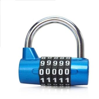 Gym Password Lock Four Five Password Lock Padlock Locker Lock Travel Bag The Anti-Theft Door Lock - intl