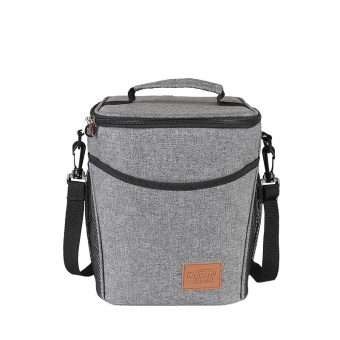 Cc Doliform Waterproof Insulated Thermal Cooler Tote Lunch Bag with Detachable Shoulder 9L(Heather Grey) - intl