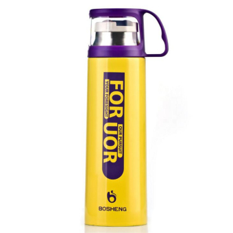 Stainless Steel Insulation Cup Flask Mug 500 ml (Yellow)
