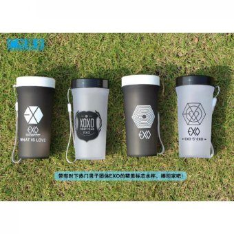 Botol Gelas Tumbler Exo 350ml - Random Colour