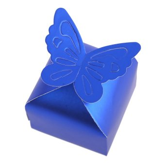 S & F Sweet 50 Pcs Butterfly Candy Box Wedding Party Festival Favor Gift (Blue)