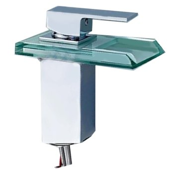 LED Light RBG 3 Color Change Bathroom Wash Basin Sink Cabinet Water Mixer Tap Change Color with Water Temperature - Intl
