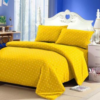 Alona Ellenov Polkadot Yellow Bed Cover Set Katun – Kuning