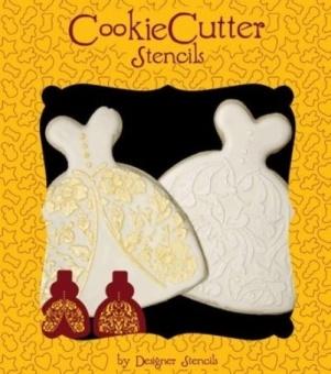 Wedding Dress Cookie Stencil Set (no cutter) - intl