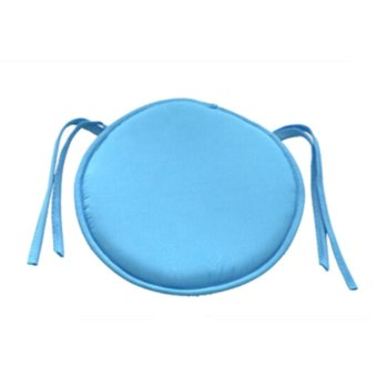 Soft Cushion Office Chair Garden Indoor Dining Seat Pad Tie On Square Foam Patio Sky Blue - intl