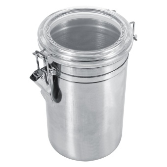 Harga Stainless Steel Kitchen Food Storage Container Bottle Sugar Tea Coffee Beans Canister (XL)