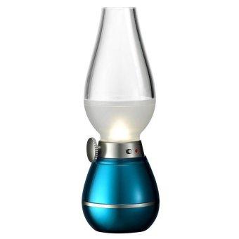 Lampu Tiup Lampu Retro Lampu Semprong USB - Biru