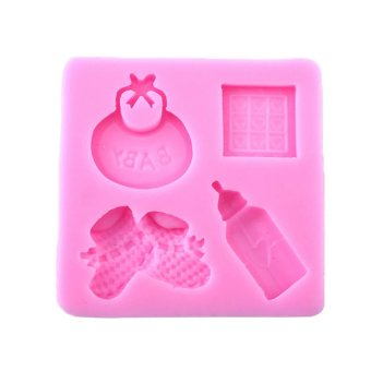 UJS Baby Silicone Mold For Fondant Cake Chocolate Decorating bottle Candy Mould
