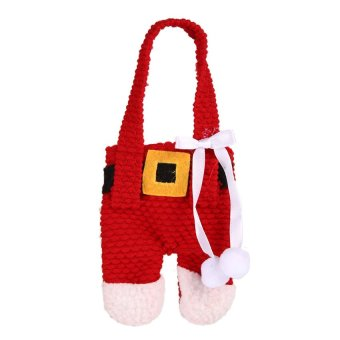 S & F Red Christmas Decorations Santa Gift Bag Covers Dinner Decor Party Pants