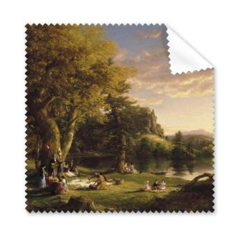 Religion Christianity World Famous Landmark Classical Oil Painting The Picnic Art Design Illustration Pattern Glasses Cloth Cleaning Cloth Phone Screen Cleaner 5pcs - intl